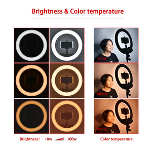 Image 5 - fosoto FT 240RL 14 inch Photographic Light 240 leds Ring Light 48W Ring Lamp With Remote For Camera Phone Video Photo studio