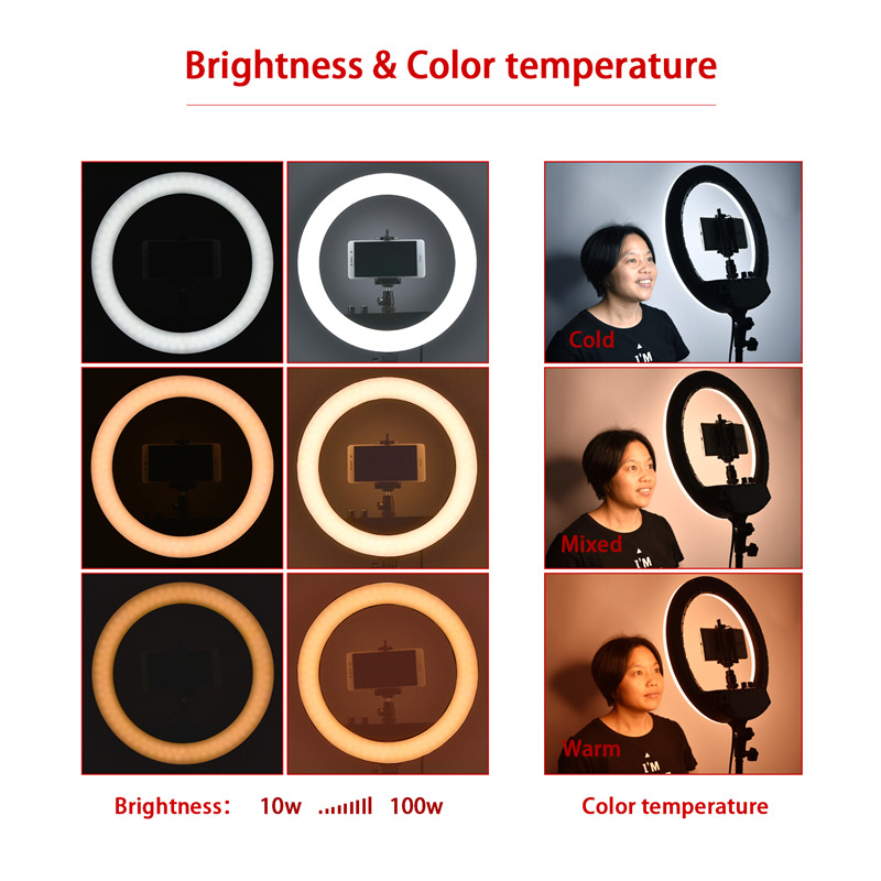 Image 5 - fosoto FT 240RL 14 inch Photographic Light Ring lamp 240 led Ring Light Tripod Stand&Remote For Camera Phone Video Photo studio-in Photographic Lighting from Consumer Electronics