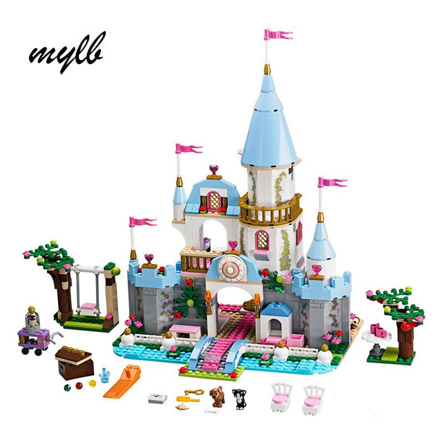 mylb Nytt Byggnadsblock Cinderella Romantiskt Slott Prinsess Friend Vänner Minis Bricks Girl Sets Toy Drop Shipping