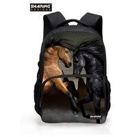 بارد الأطفال 3d الحيوان فيلت رجل مجنون الحصان الطباعة حقيبة الظهر ل مدرسة بنات كلية الطلاب bagpack التجزئة