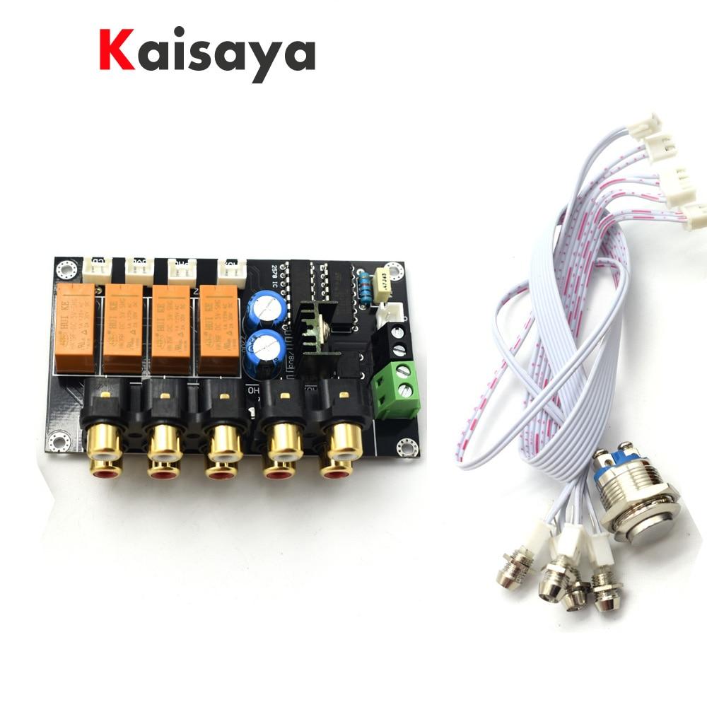 Assembled 4 way input switch board AC12V