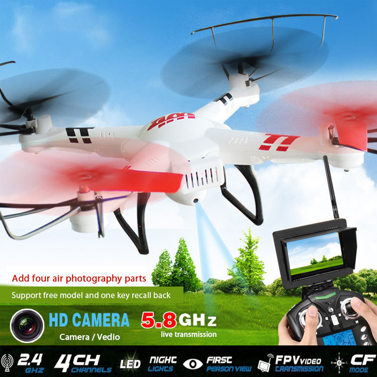 Free shiping V686 professional rc drone 2.4G 6-Axis Gyro RC helicopter FPV Quadcopter with 2.0MP Camera Headless mode