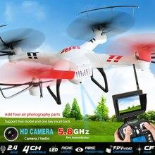 Free shiping V686 profissional rc zangão 2.4G 6-Axis Gyro RC helicóptero FPV Quadcopter com Câmera 2.0MP modo Headless