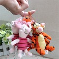 Free shipping 60pcs/lot 10cm original Mickey mouse friend Piglet pig tiger plush pendants cartoon toys