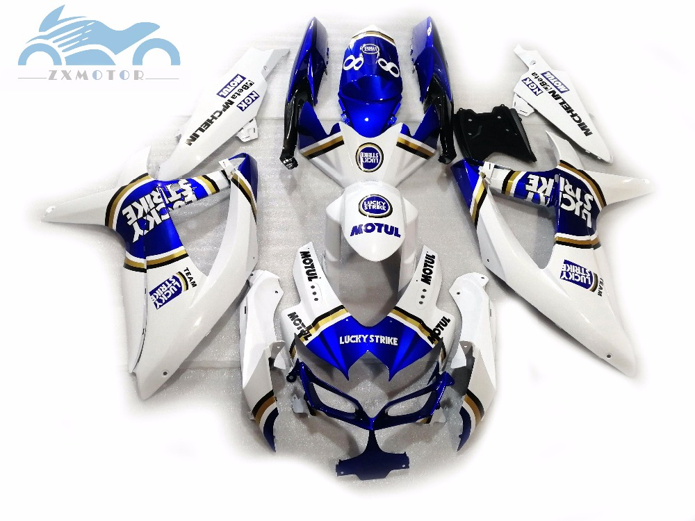 Customized Injection <font><b>Fairing</b></font> for Suzuki <font><b>GSXR</b></font> <font><b>600</b></font> 2006 <font><b>2007</b></font> GSXR600 750 motor <font><b>fairings</b></font> <font><b>kit</b></font> GSXR750 K6 06 07 Lucky Strike OL3 image
