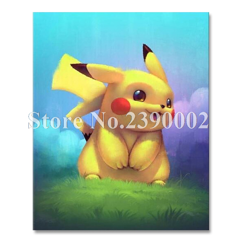 Cartoon Needlework DIY 5D Diamond Painting Cross Stitch Kits pokemon Full Diamond Embroidery Mosaic Home Decor Pikachu Crafts