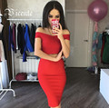 HOT!!! Free Shipping!  New Sexy Mini Off the Shoulder Bodycon Bandage Tank Top