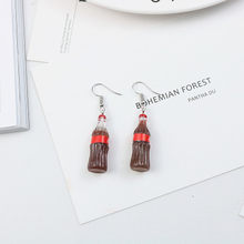 European and American personality creativity is very Coke, with lovely and simple style Coke earrings and Earrings(China)