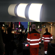 EN471 5cm width Gery Reflective Polyester Fabric for Clothing Free shipping