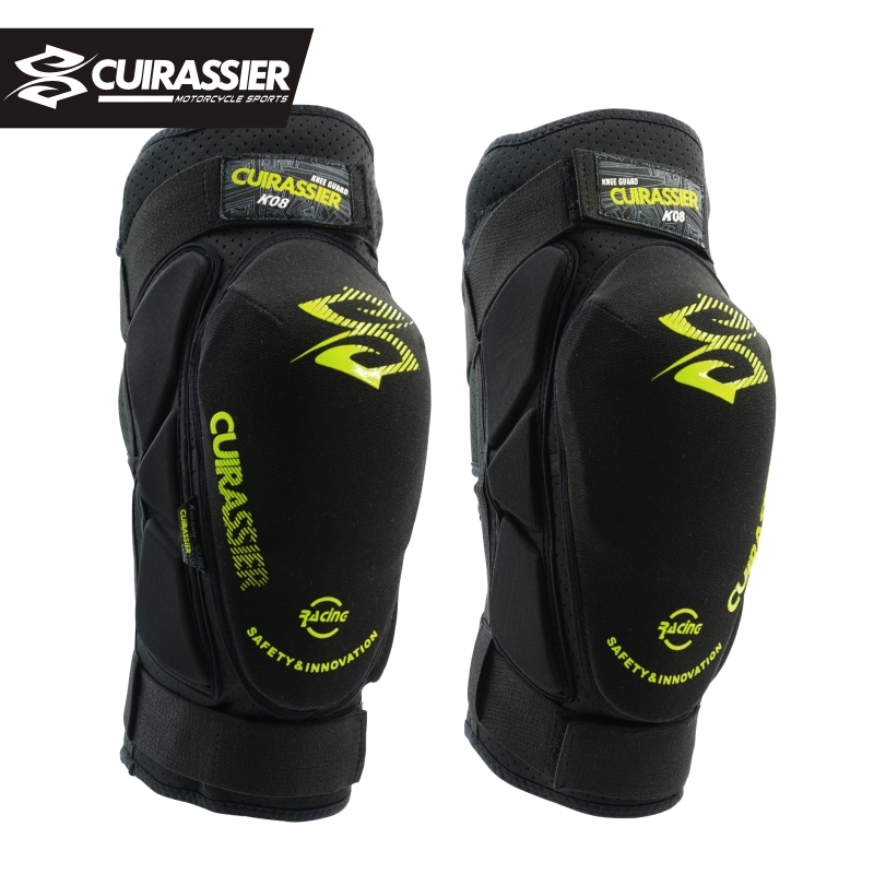 Cuirassier K08 Motorcycle Knee Pads Motocross MX Kevlar Knee Protectors Shin Guards protective Gears Skating Racing Riding Brace