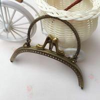 16cm High Quality Antique Brass Metal Purse Frames with the shoe clasps DIY Bag Accessories 10 pcs