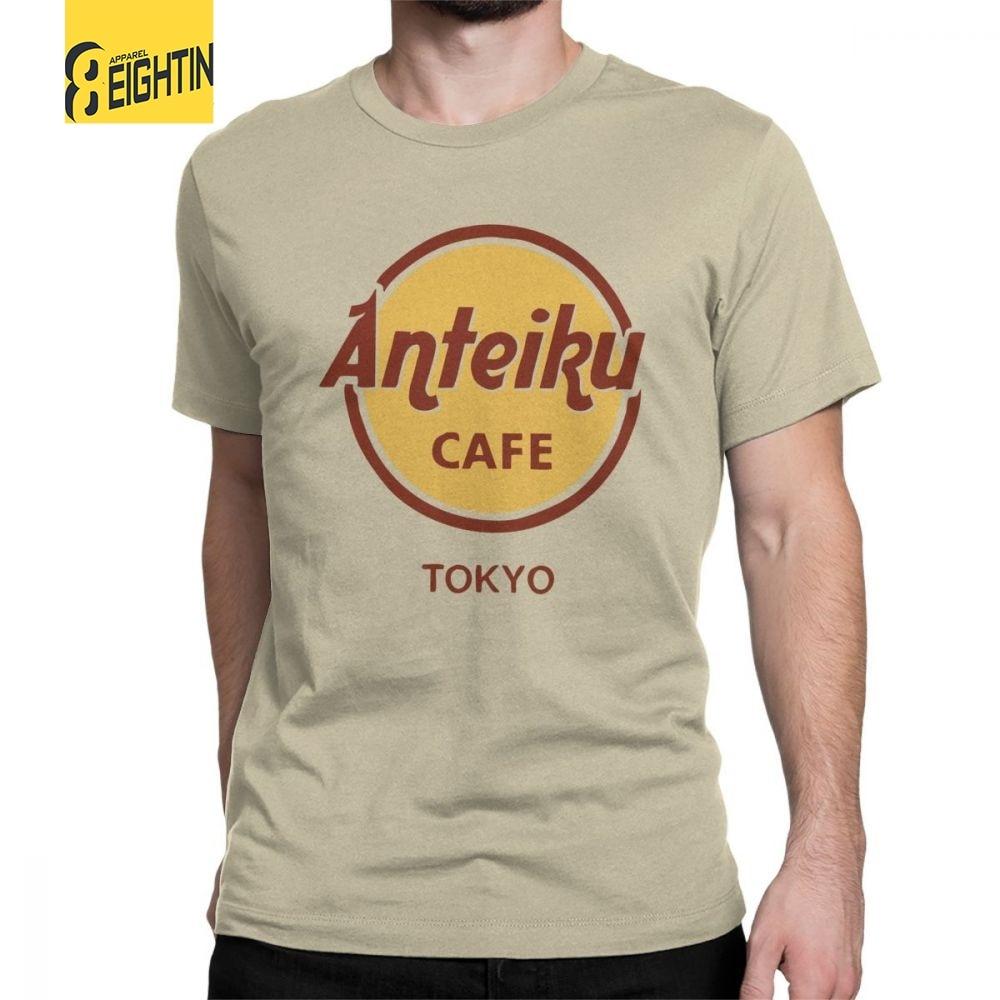 Anteiku Coffee Tokyo Ghoul   T     Shirt   Japanese Anime Kaneki Ken   T  -  Shirt   Men Short Sleeve Tee   Shirt   Round Collar Cotton Cloth Design