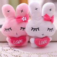 1PCS Mini Bow Rabbit Plush Toy Hug Doll Cute Bag Pendant Creative Love Children Girl Gift