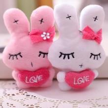 1PCS Mini Bow Rabbit Plush Toy Hug Rabbit Doll Toy Cute Rabbit Bag Pendant Creative Cute Hug Love Rabbit Children Girl Gift rabbit