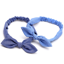 все цены на New Fashion Women Bowknot Elastic Hair Band Summer Headband Turban Knot Headbands Hairbands for Women Hair Accessories Head Wrap онлайн