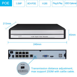 Image 3 - Keeper H.265 8CH 5MP POE camera system kit with Audio Record IP Camera IR Outdoor Waterproof CCTV Video Surveillance NVR Set