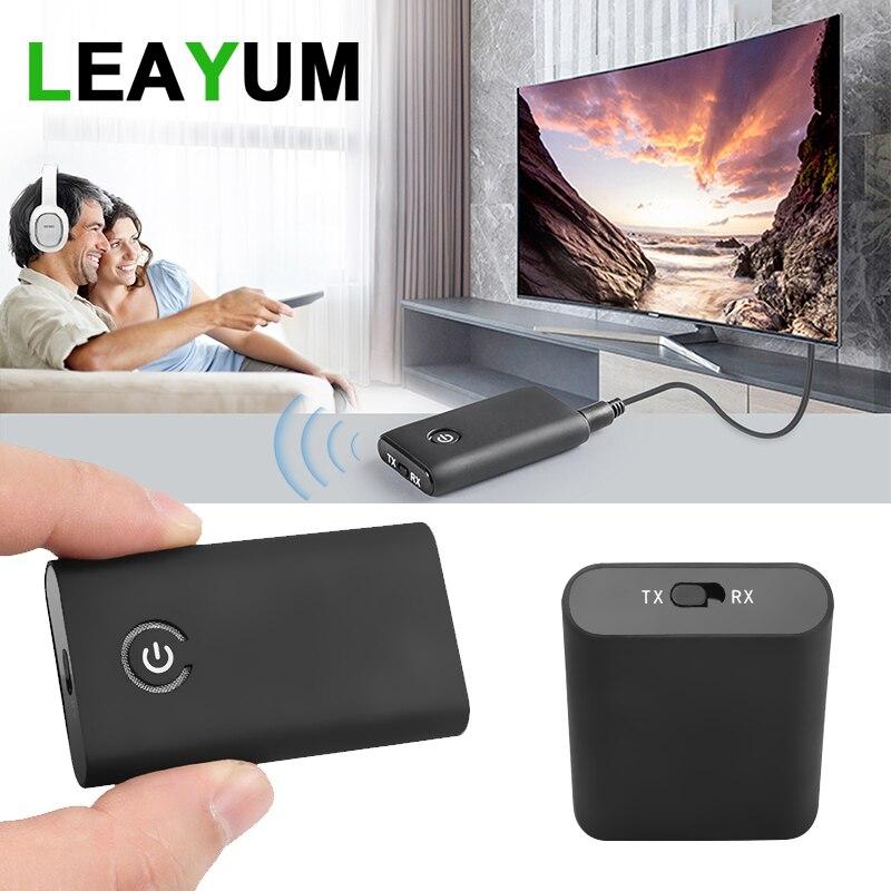 4.0 APT-X Receptor Transmissor para TV Orador Sistema de Som Do Carro Do Bluetooth 5.0 Adaptador de Fone De Ouvido Sem Fio Estéreo de 3.5MM Audio CSR