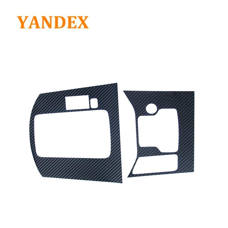 YANDEX carbon fiber decoration interior gear panel 2pcs for MAZDA 2017 2018 CX-5 CX5 accessories for mazda cx 5 cx5 2nd gen 2017 2018 interior custom car styling waterproof full set trunk cargo liner mats tray protector