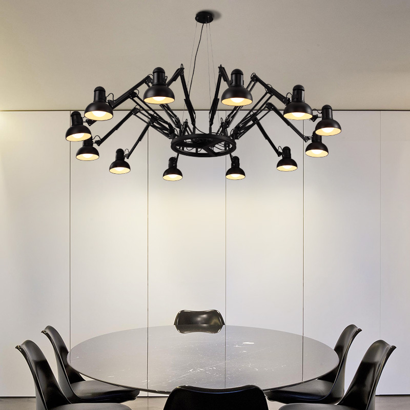 Art chandelier creative personality of modern minimalist living room bedroom office wrought iron chandelier Nordic restaurant