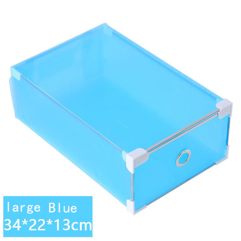 Beau 1 Piece Large Metal Edged Drawer Type Plastic Storage Box Storage Shoe Box  Transparent Shoebox Shoe Box In Storage Boxes U0026 Bins From Home U0026 Garden On  ...
