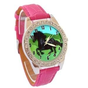 Лидирующий бренд, детские модные часы, кварцевые наручные часы с кожаным ремешком, часы для мальчиков и девочек, Мультяшные часы с циферблат...