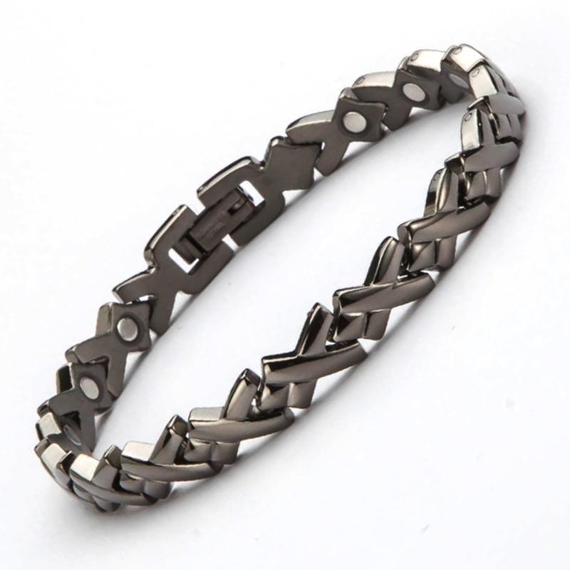 610fc3432b1bf New Fashion Bracelets 316L Stainless Steel Health Magnetic Bracelet Femme  Ladies Magnets Bracelets Female Wrist Bands For Women