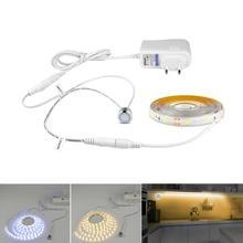 220v 110v interruptor do sensor de toque conduziu a luz de tira 12v flexível adesivo conduziu a lâmpada fita para a decoração do backlight da tela do computador do armário de cabeceira