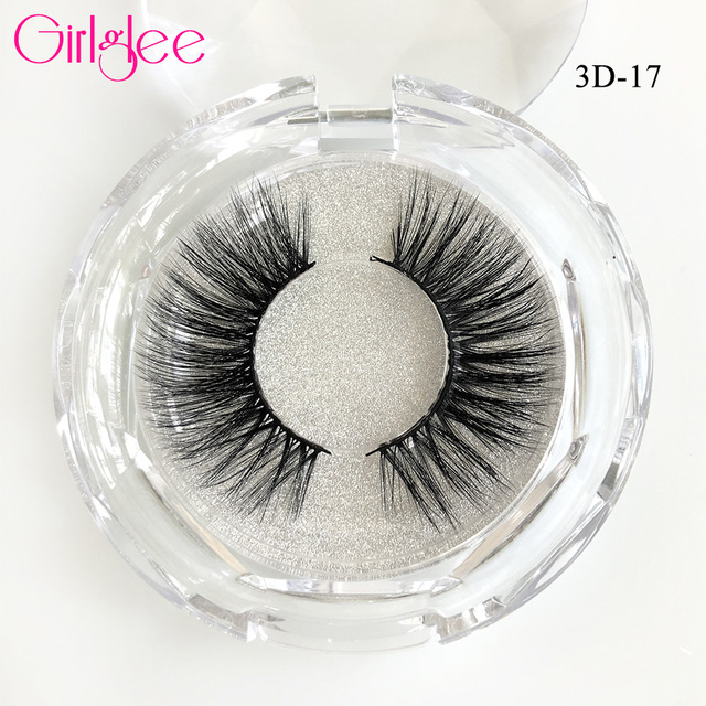 Natural Mink Eyelashes 3D Mink Lashes Long Thick False Eyelashes High Volume Eye lashes Girlglee Hand made Makeup Eyelash Soft 3