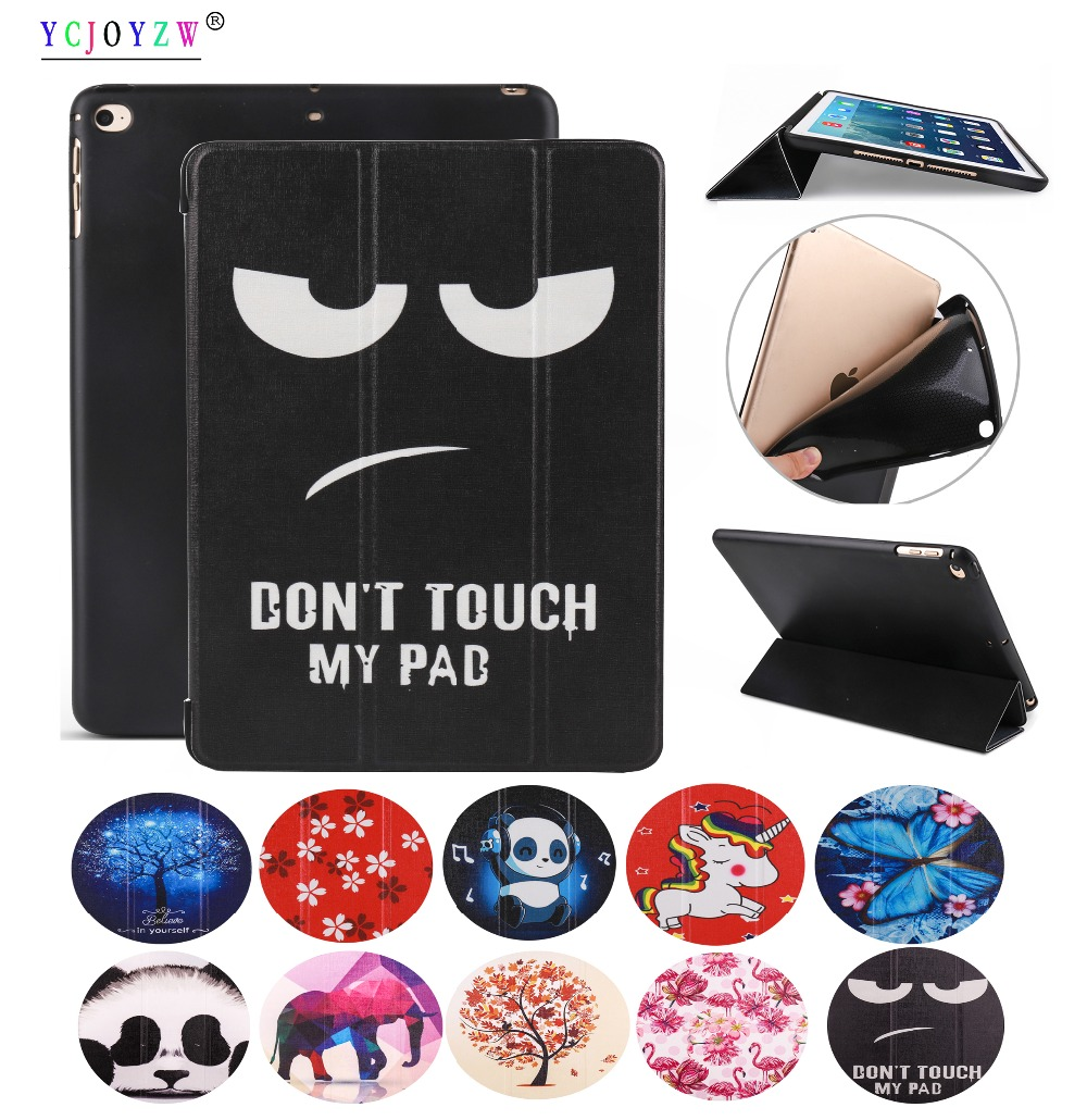 YCJOYZW - Case for Apple New <font><b>iPad</b></font> <font><b>9</b></font>.<font><b>7</b></font> inch <font><b>2017</b></font>/<font><b>2018</b></font> for <font><b>iPad</b></font> <font><b>Air</b></font> <font><b>1</b></font>/<font><b>Air</b></font> <font><b>2</b></font> . PU leather cover+TPU soft silicone full-angle guard image