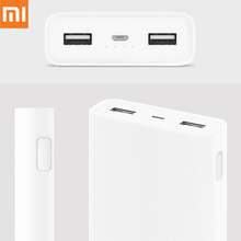 Original Xiaomi 20000mAh Power Bank 2C Support Two-way Fast Charging QC 3.0 Dual USB Portable External Battery Phone