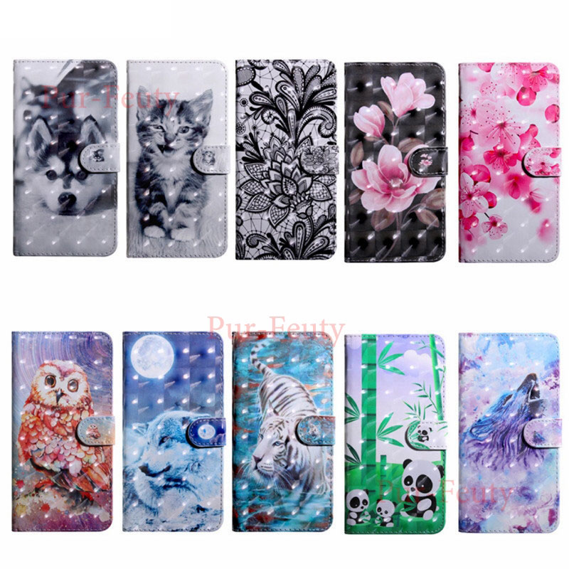Flip Case For HUAWEI Honor8X <font><b>64GB</b></font> 128GB Wallet Stand 3D Painted Phone Leather Cover For HUAWEI <font><b>Honor</b></font> <font><b>8X</b></font> Global Dual SIM JSN-LX1 image