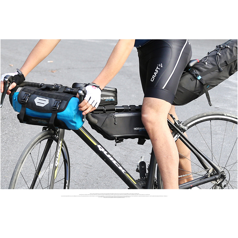 b32ccd6952d ROSWHEEL ATTACK SERIES Full waterproof BICYCLE UPPER TUBE TRIANGLE BAG BIKE  FRONT BEAM BAGS Pannier Cycling storage pouch-in Bicycle Bags & Panniers  from ...