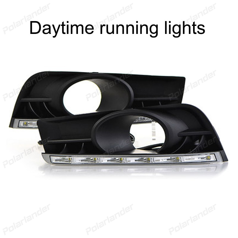 Car styling daytiime running lights for C/hevrolet C/ruze 2009-2013 auto accessory LED headlight auto parts 2 pcs for c hevrolet c ruze light guide 2009 2013 daytime running lights car styling