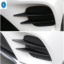 Yimaautotrims Auto Accessory Front Bumper Fog Lights Lamp Eyelid Eyebrow Cover Trim Fit For Mercedes Benz GLC X253 2015 - 2019 yimaautotrims auto accessory front fog lights lamp eyelid eyebrow cover trim fit for ford mondeo fusion 2017 2018