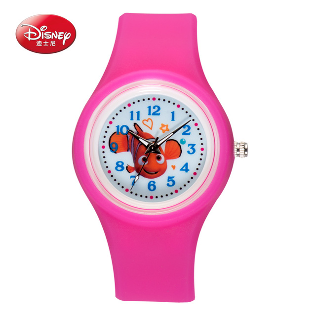 Disney Silicone seabed general mobilization Watch Analog Printed Rubber Band Vintage Fashion Women wristwatch