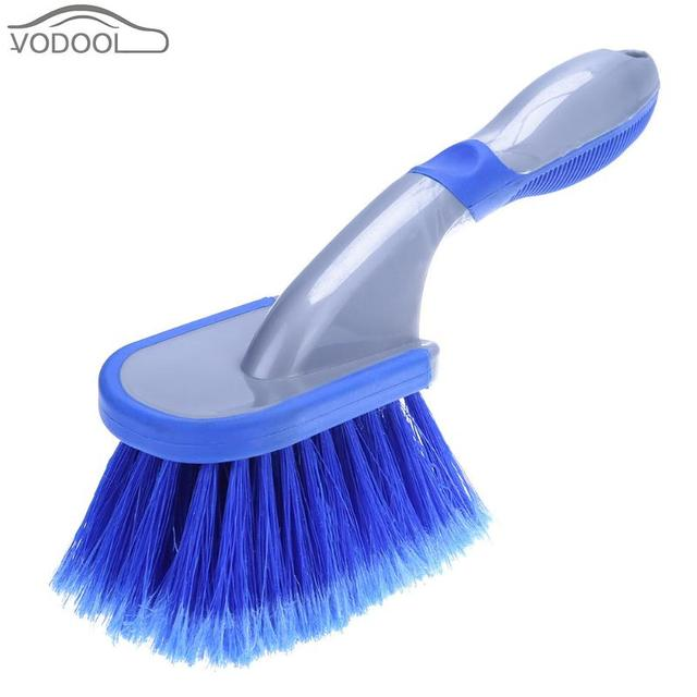 Car Wheel Tire Brush Vehicle Tyre Rim Cleaning Plastic Soft Handle Auto Washing Tools For Metal Surface Edge