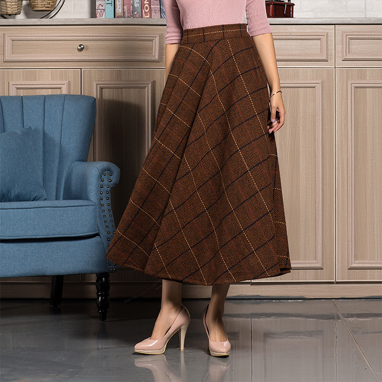 Women's Clothing Fast Deliver Skirts Long Section Women Girls College High Wind Wild Student Art Van Denim A Word Skirt High Waist Large Swing Casual Skirt And To Have A Long Life.