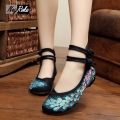 Hot sale summer Phoenix embroidery shoes women flats  fashion zapatos mujer flat oxfords shoes women sapato sexy feminino shoes