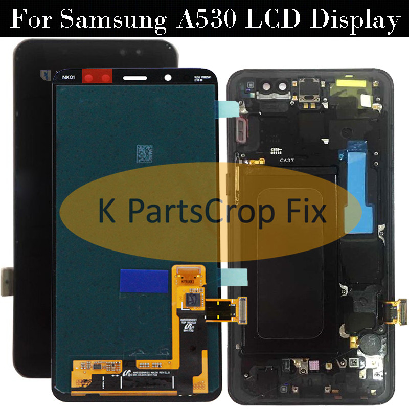 100 ORIGINAL AMOLED 5 6 Display LCD for SAMSUNG Galaxy A8 2018 LCD A530 LCD Touch