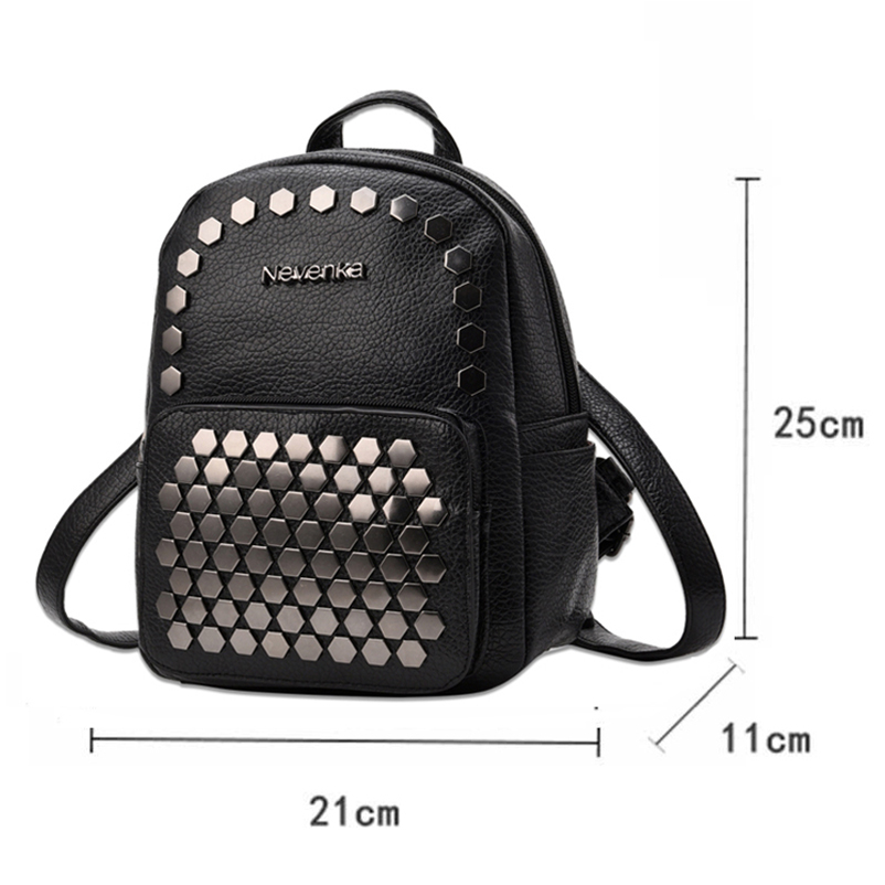 Nevenka Fashion Women Bag School Lady Backpack PU Leather Bags Student Shoulder Bag Casual Female Backpacks Softback Bags Sac22
