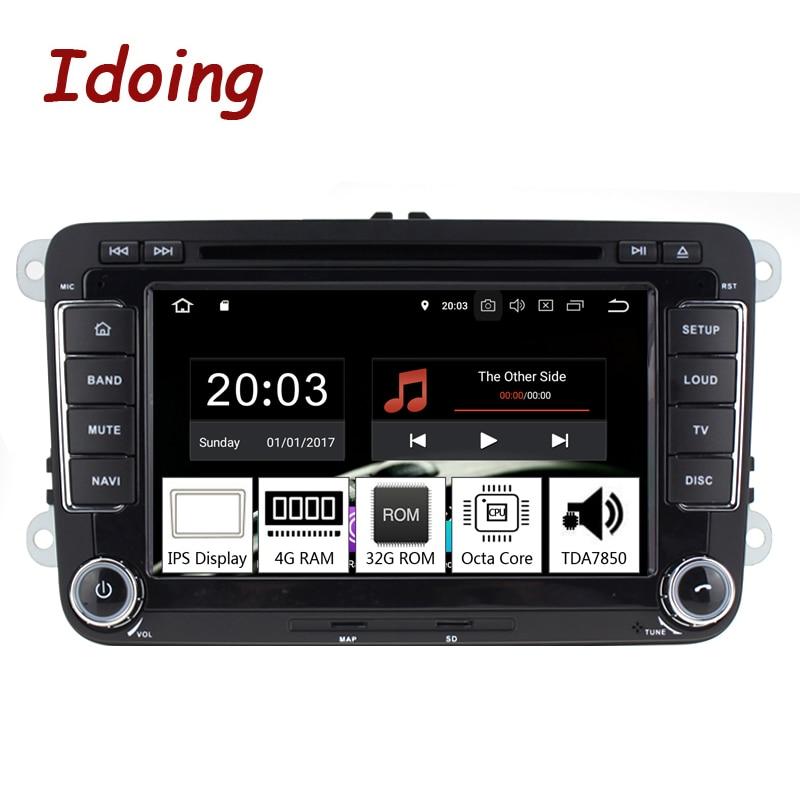 Idoing 7 2Din Car Android 9 0 Radio Player For Volkswagen Touran Passat B6 PX5 4G