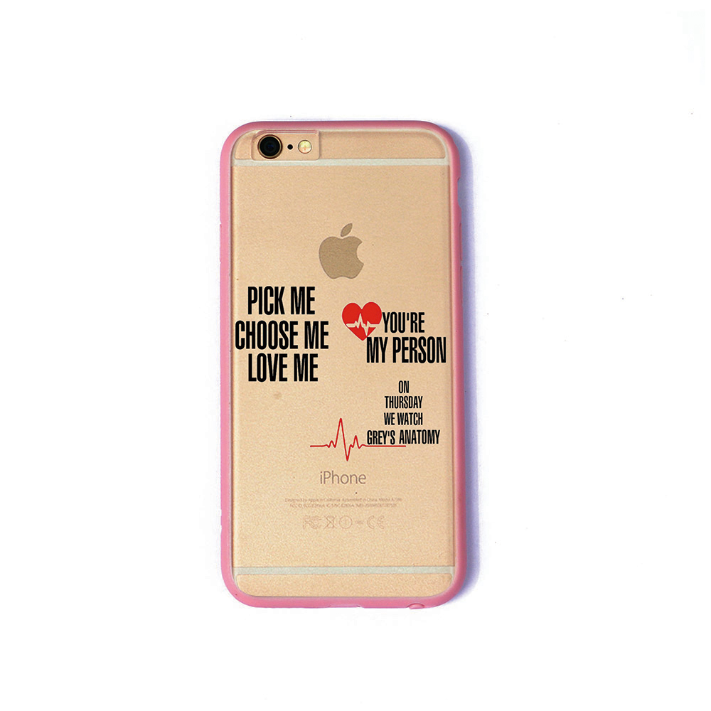 TV greys anatomy phone cases under 3 dollars TPU+PC black for iPhone ...