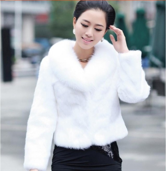 Cheap White Faux Fur Coat
