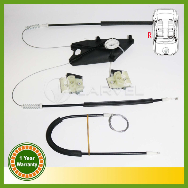 For VW Polo 2010 2011 2012 2013 2014 2015 New Window Regulator Repair Kit Front Right 6RD837462