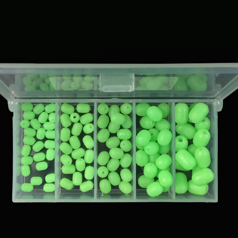 100Pcs/Set Luminous Beads Fishing Space Beans Round Float Balls Stopper Light Balls Sea Fishing Tackle Lure Accessories