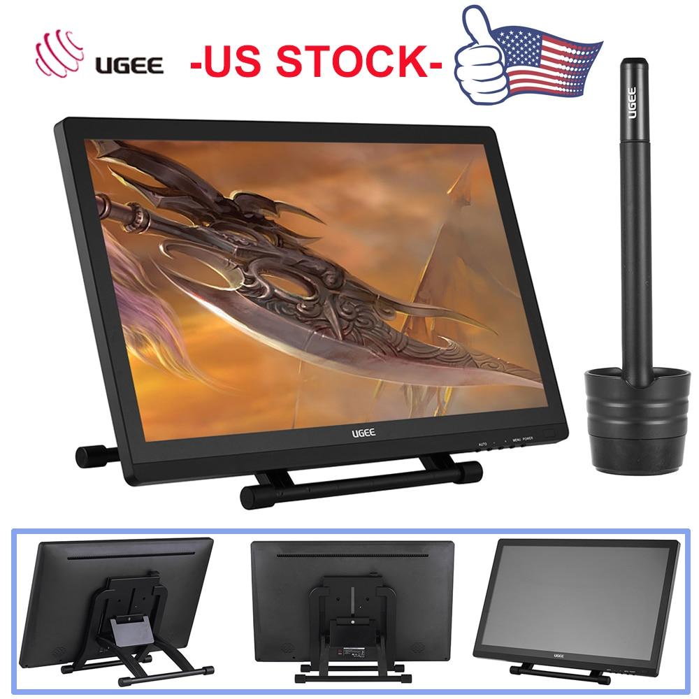 Новый Ugee 2150 21,5 5080LPI 1080 P HD графика рисунок планшеты экран IPS display дисплей стенд Умный ручка для ящика художник