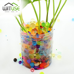 10000 Particles /lot 6mm Pearl Shaped Crystal Soil Water Beads Mud Grow Magic Jelly Balls Wedding Home Decor Hydrogel