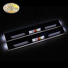 Impermeable Ultrafino LED Travesaño de La Puerta Placa Del Desgaste Del Pedal de Bienvenida Para Mitsubishi Lancer Ralliart 2009-2015, 2 unids Puerta principal