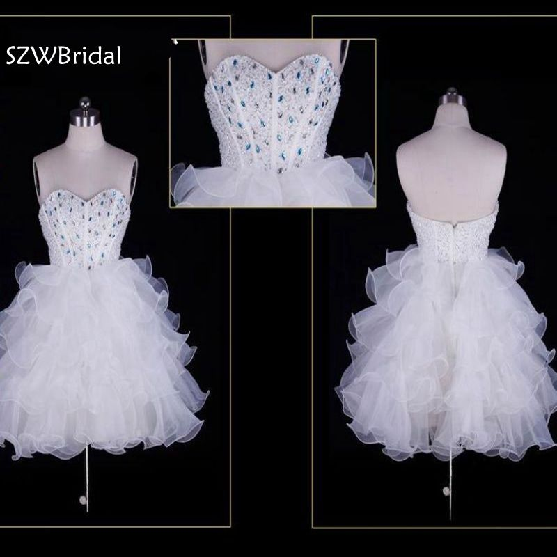 Real Picture Custom made white Short   Cocktail     dresses   2019 Robe de   cocktail   Ever pretty Cheap coctail   dress   Plus size