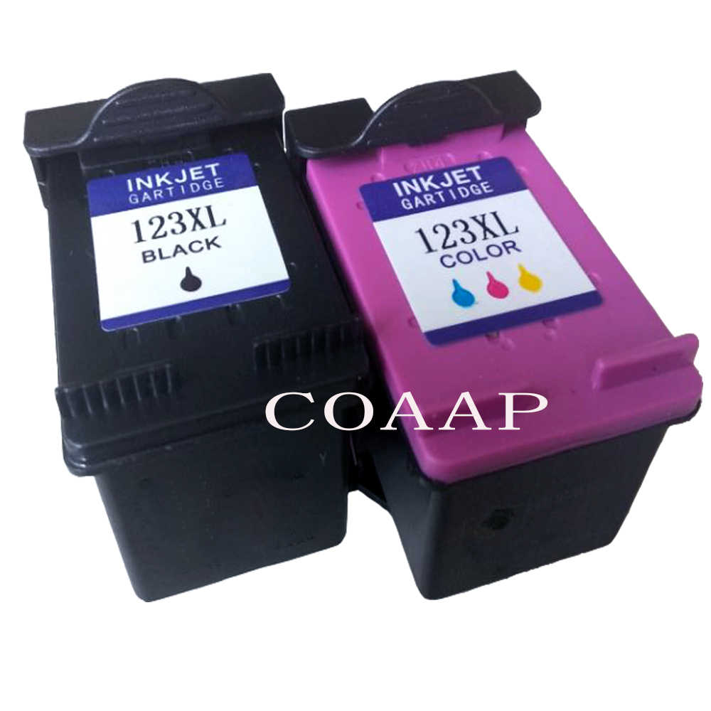 Coaap Diisi Ulang HP 123 XL Replacement Ink Cartridge HP 123 123XL untuk DESKJET 1110 2130 2132 2133 2134 3630 3632 3637 3638